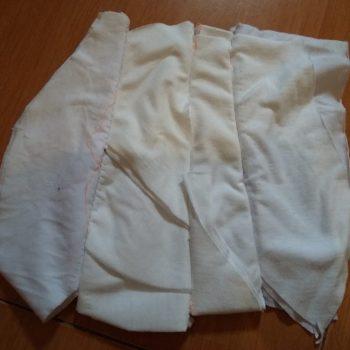 kain majun putih jahit sambung