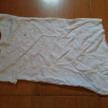 kain majun putih lembaran
